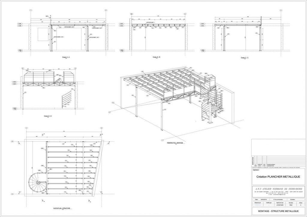 installation plancher métallique