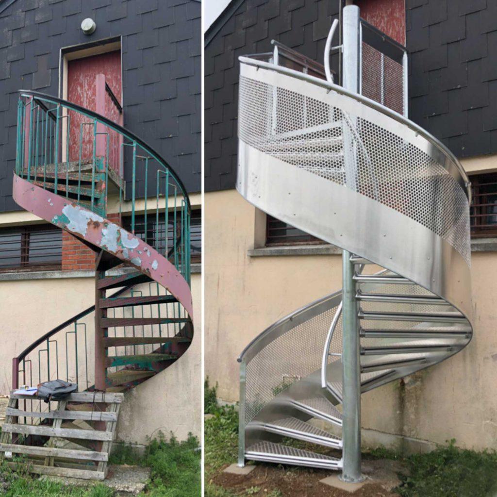 escalier hélicoïdal ANS