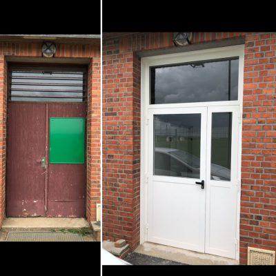 Pose porte menuiserie métallique près de Rouen